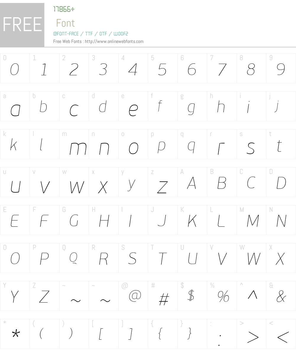PF BeauSans Pro Font Screenshots
