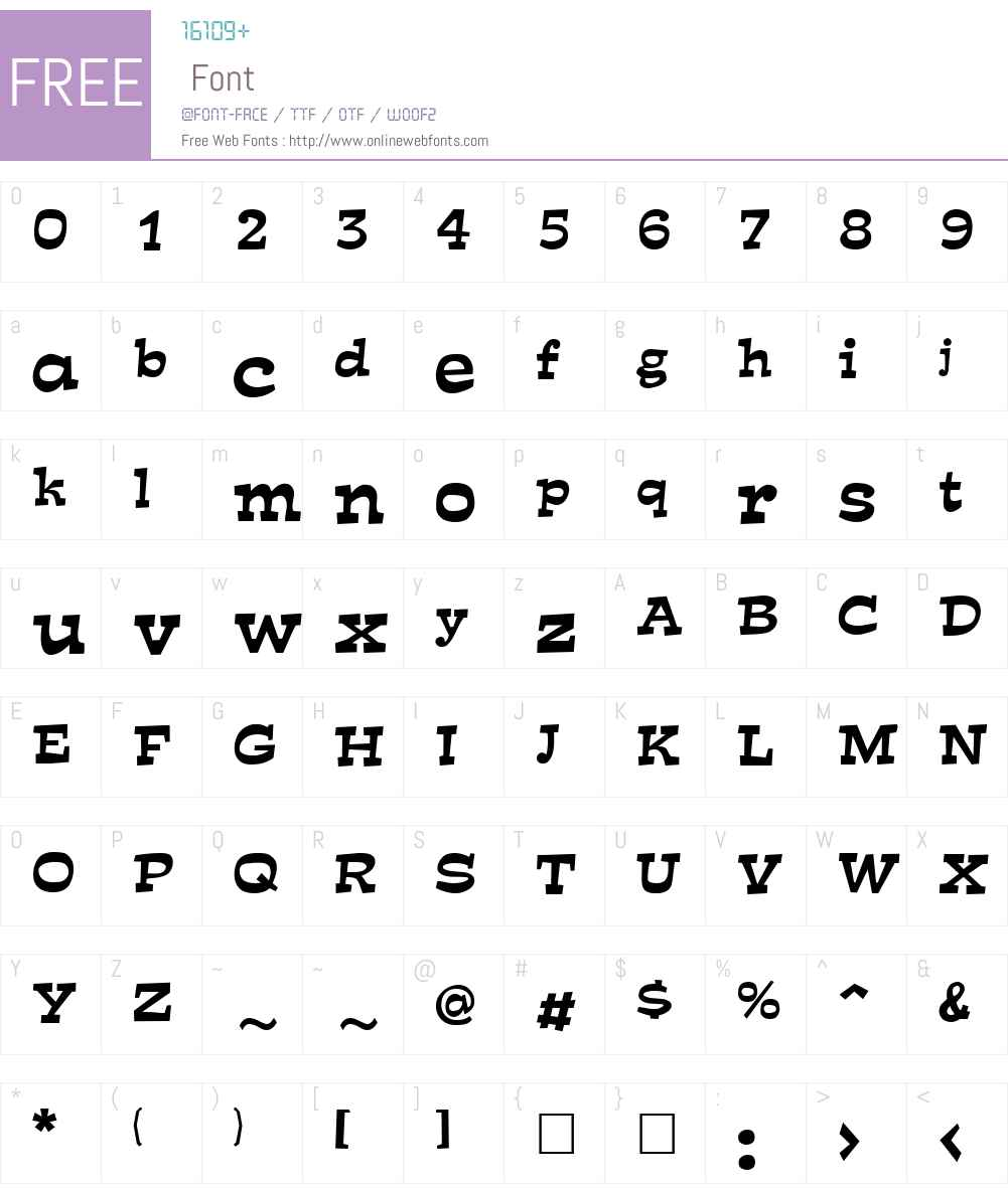 Mirisch Font Screenshots