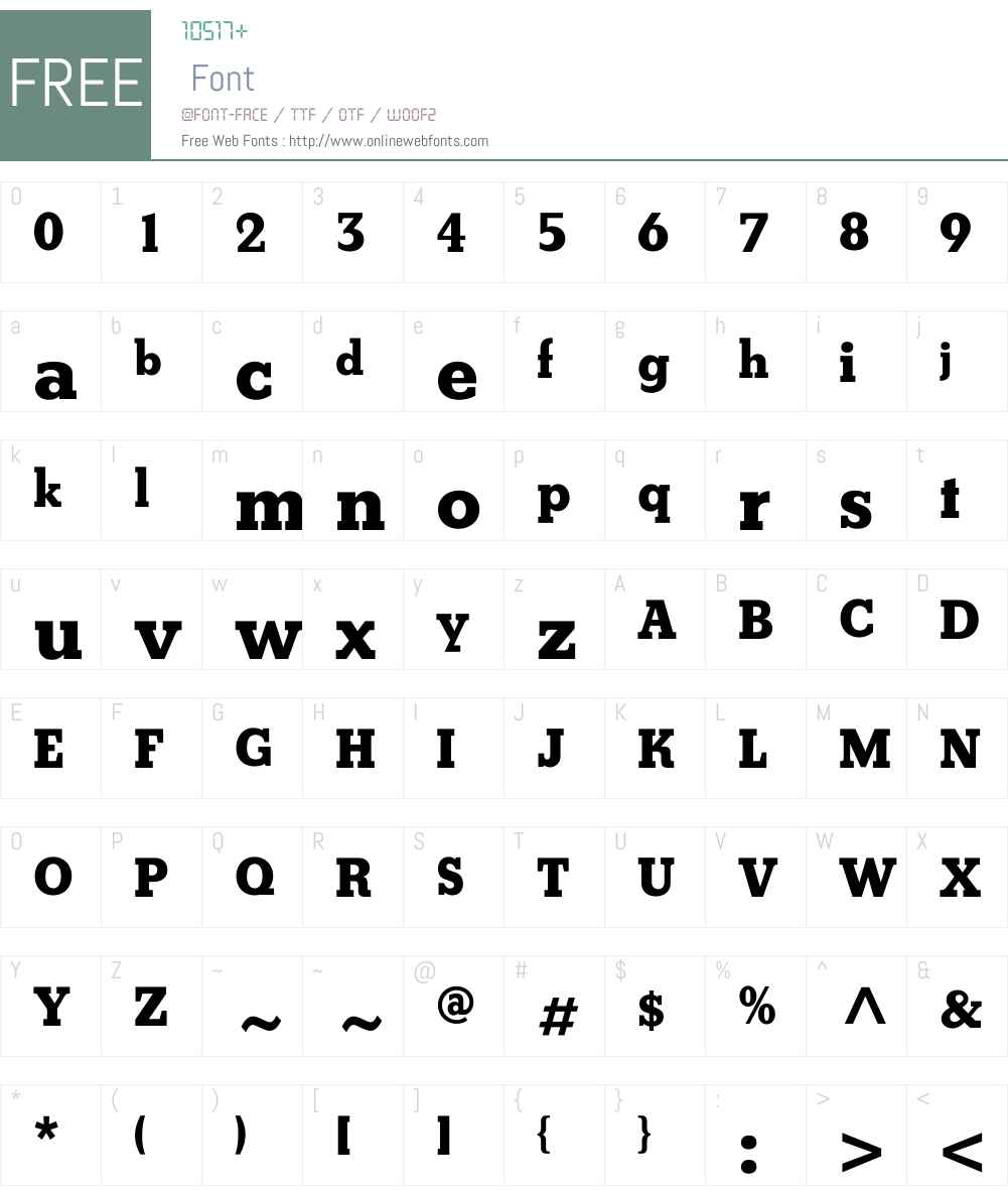 HunterW00-Bold Font Screenshots