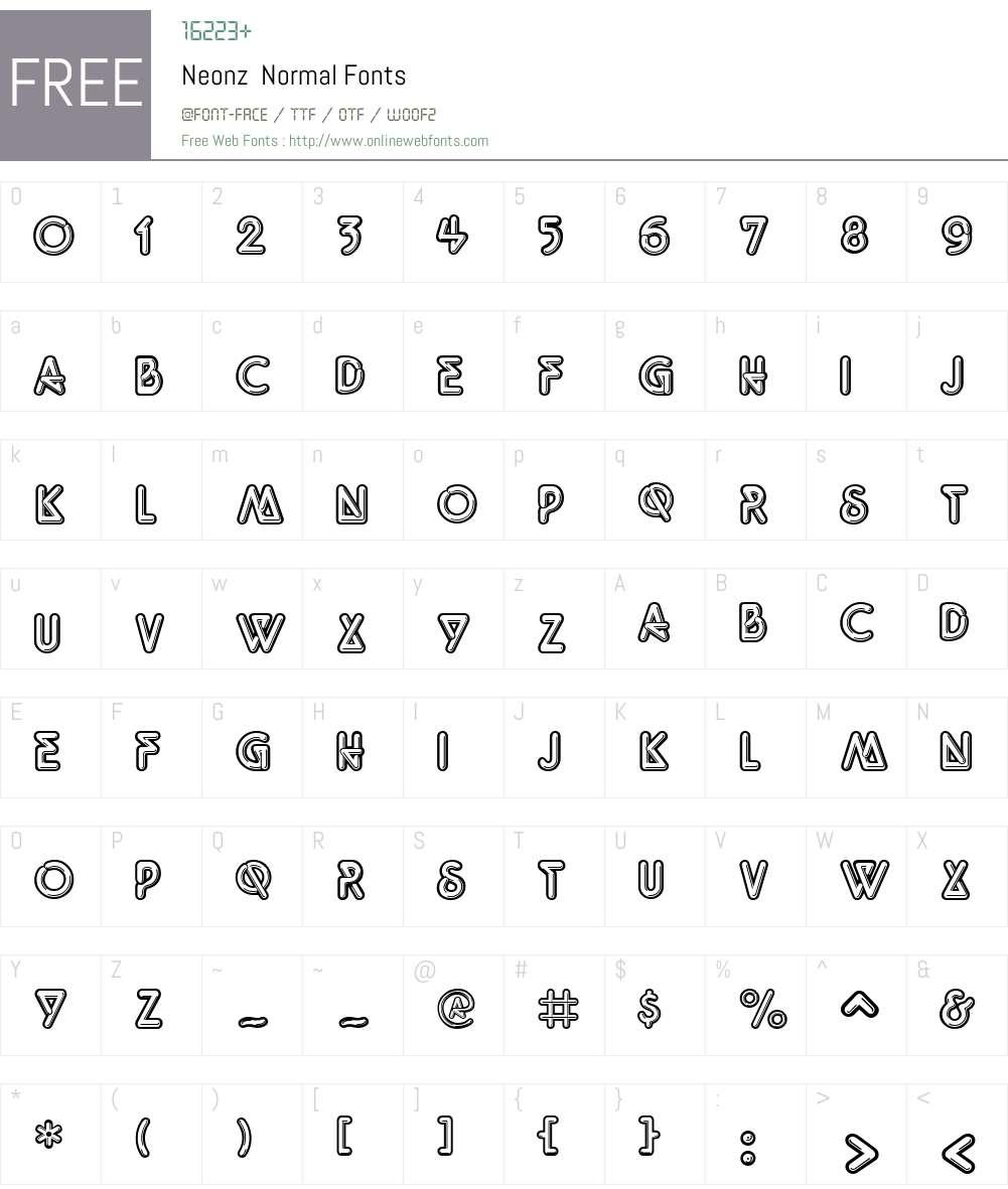Neonz Font Screenshots