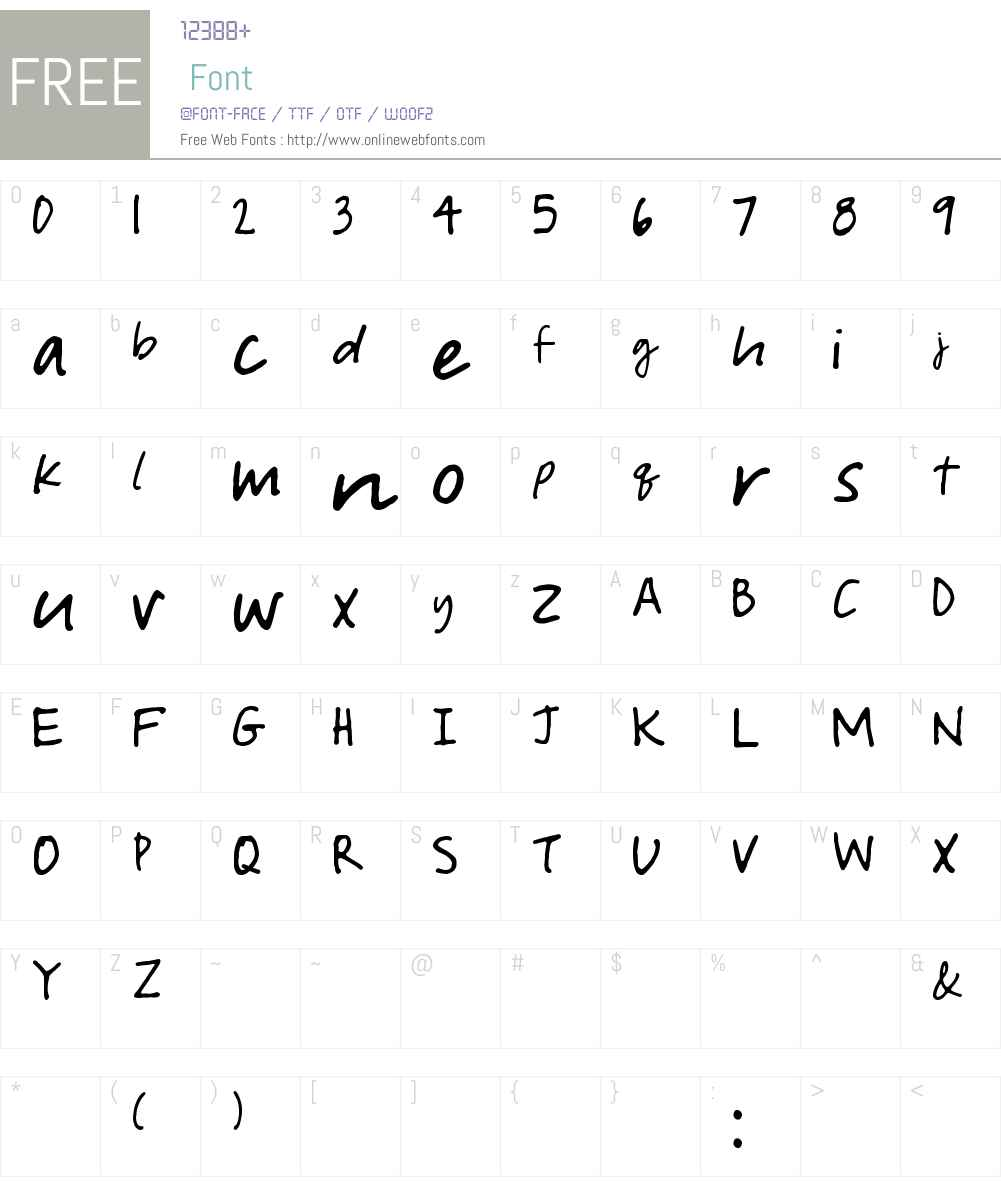 Courtney Dorkling Font Screenshots