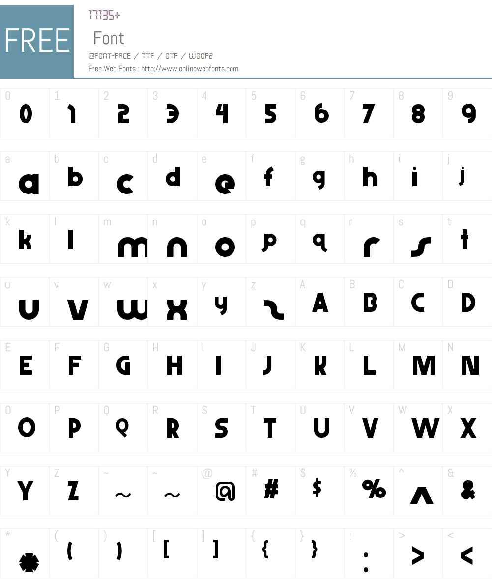 AbraxeousThin Font Screenshots