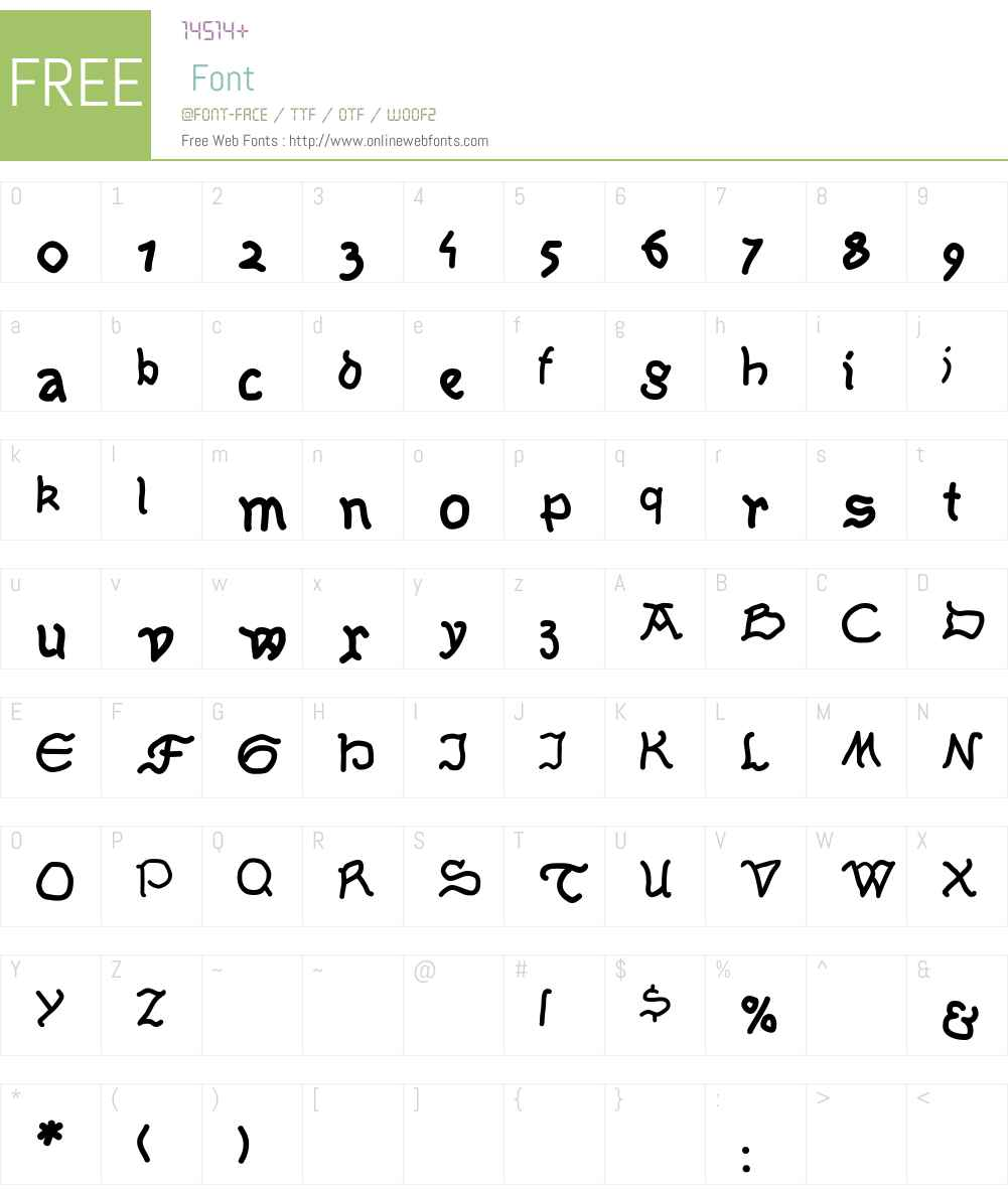 Serpentina Font Screenshots