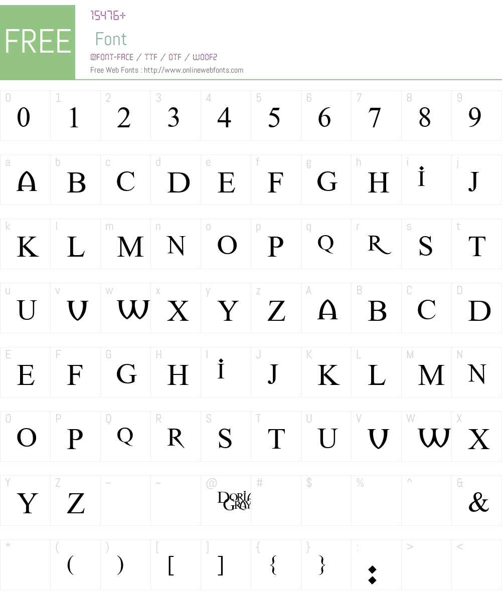 Dorian Gray Font Screenshots