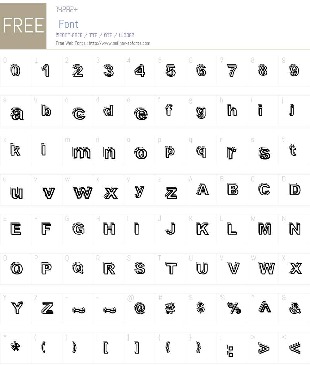 Vale Shadow Font Screenshots