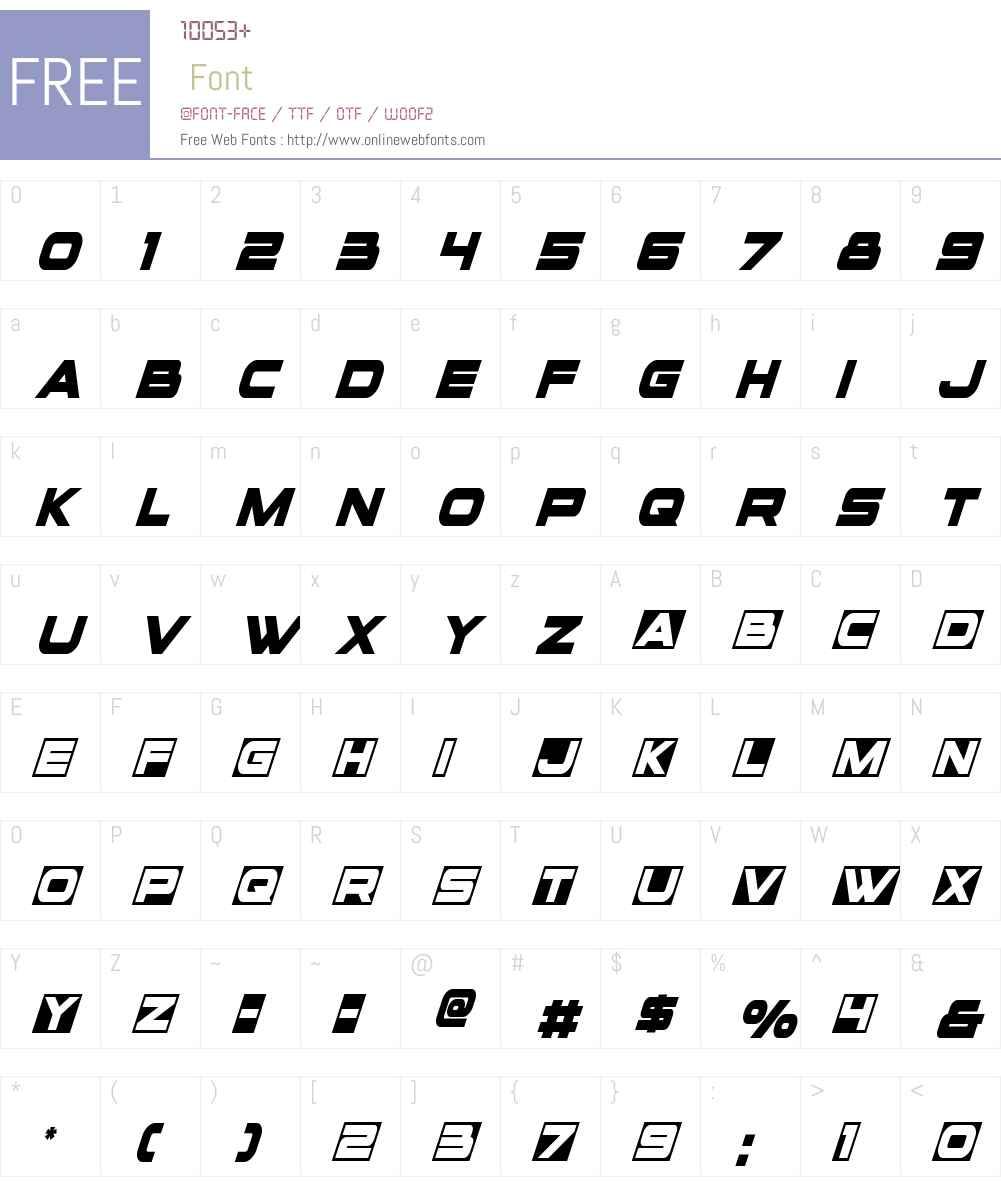 voxBOX Condensed Italic Font Screenshots