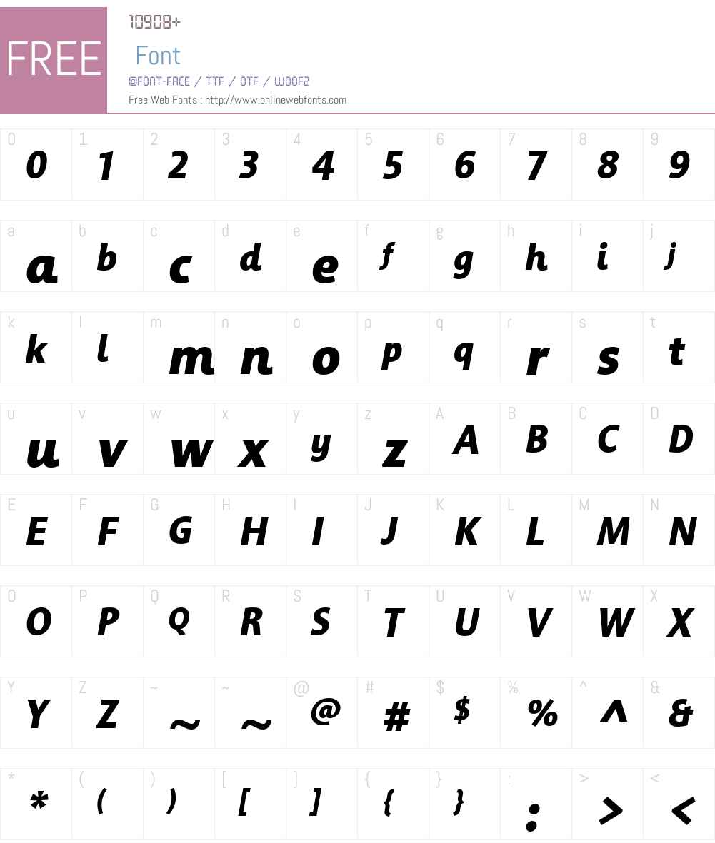 Informa Font Screenshots