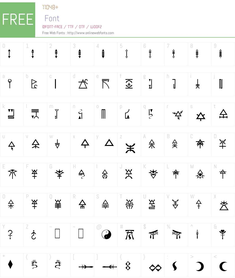 Eldar Runes Font Screenshots