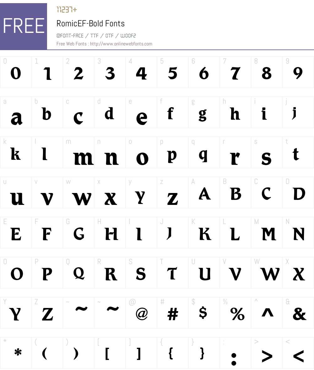 RomicEF Font Screenshots