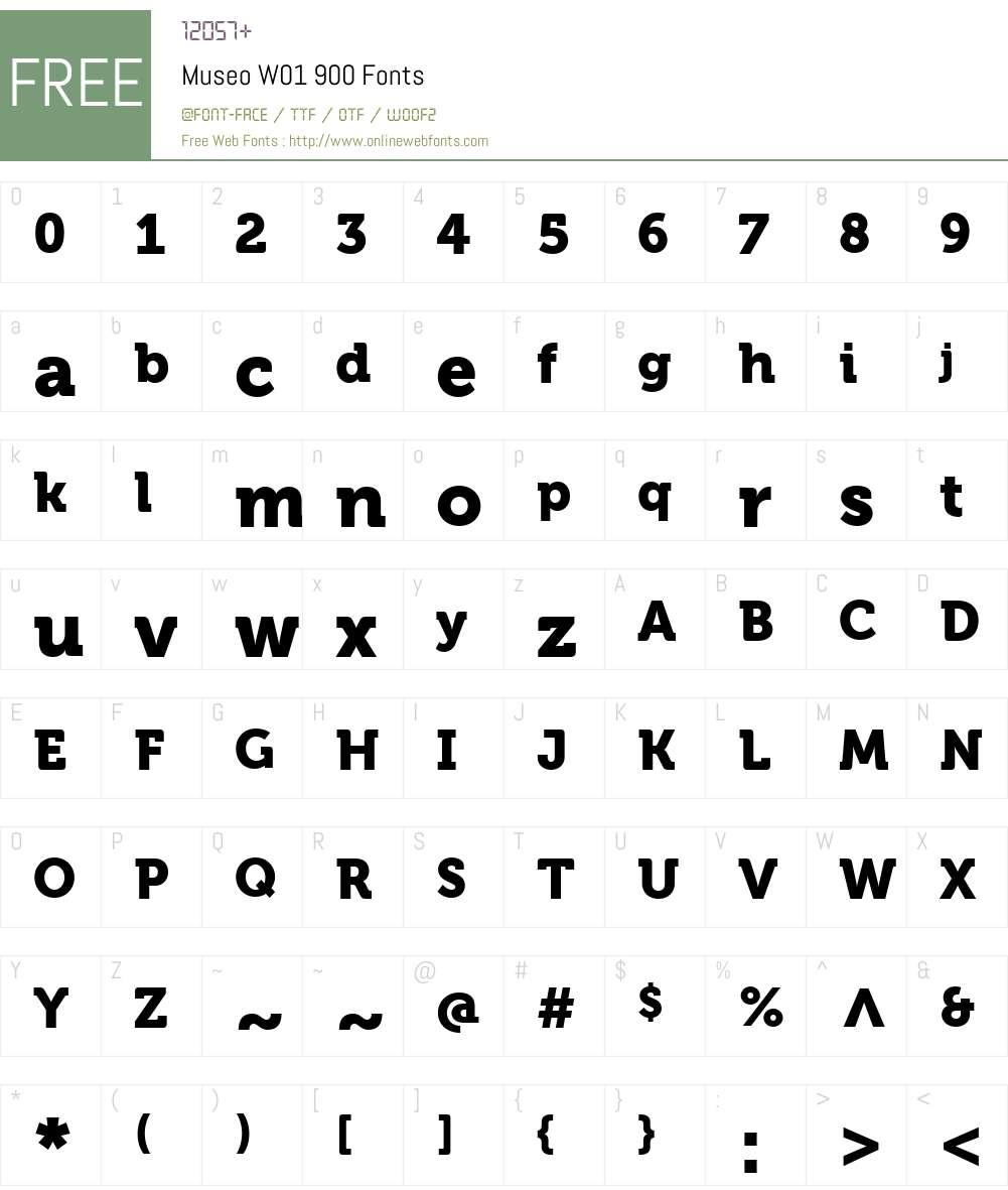 MuseoW01-900 Font Screenshots