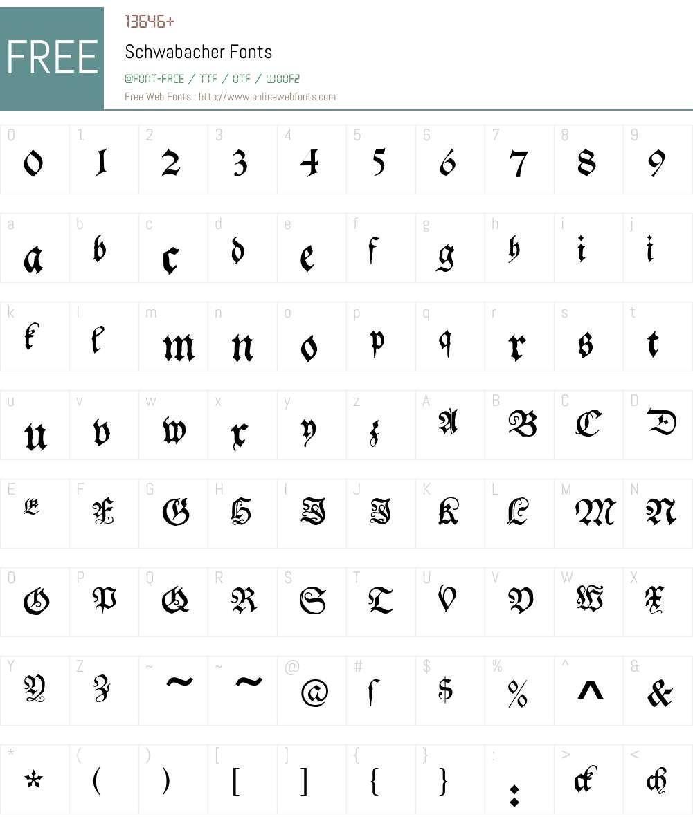 Schwabacher Font Screenshots