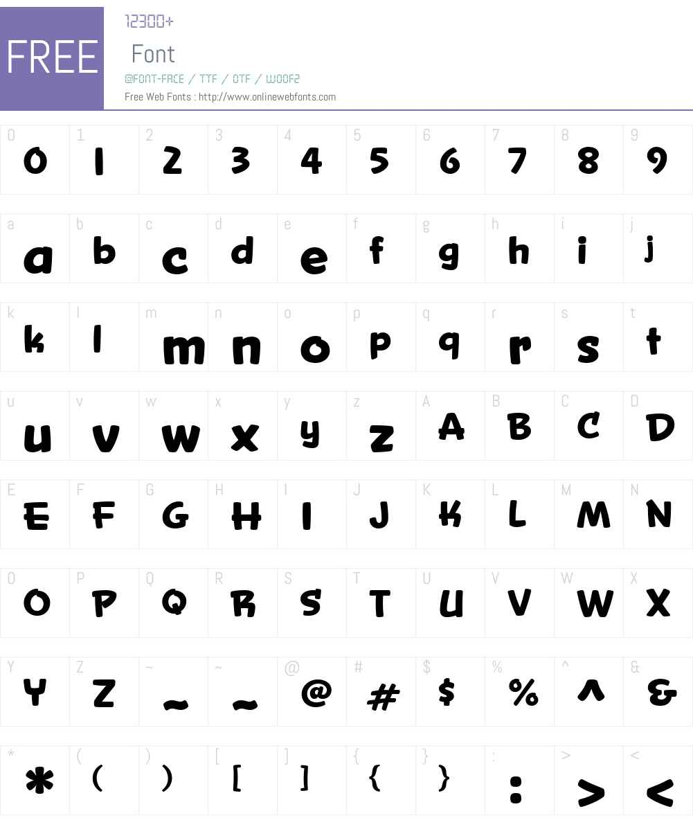 Snicker Font Screenshots
