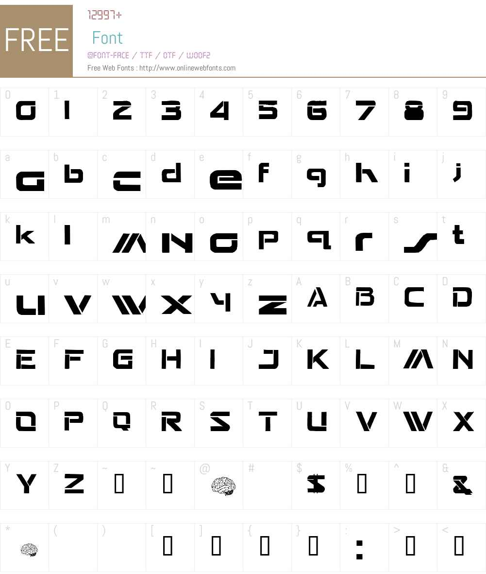 Seperated Font Screenshots