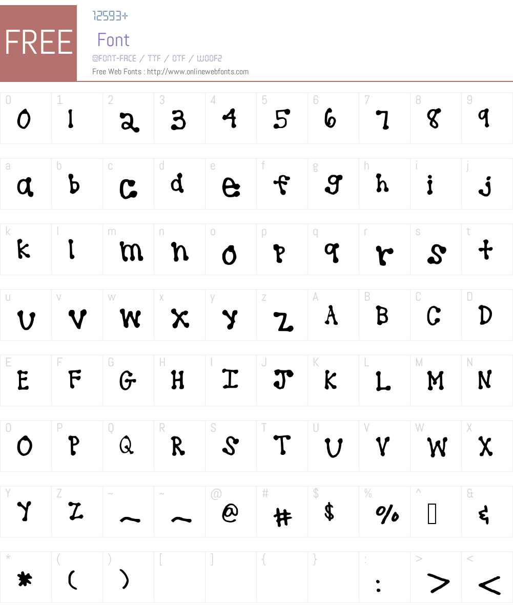brookeshappelldots Font Screenshots