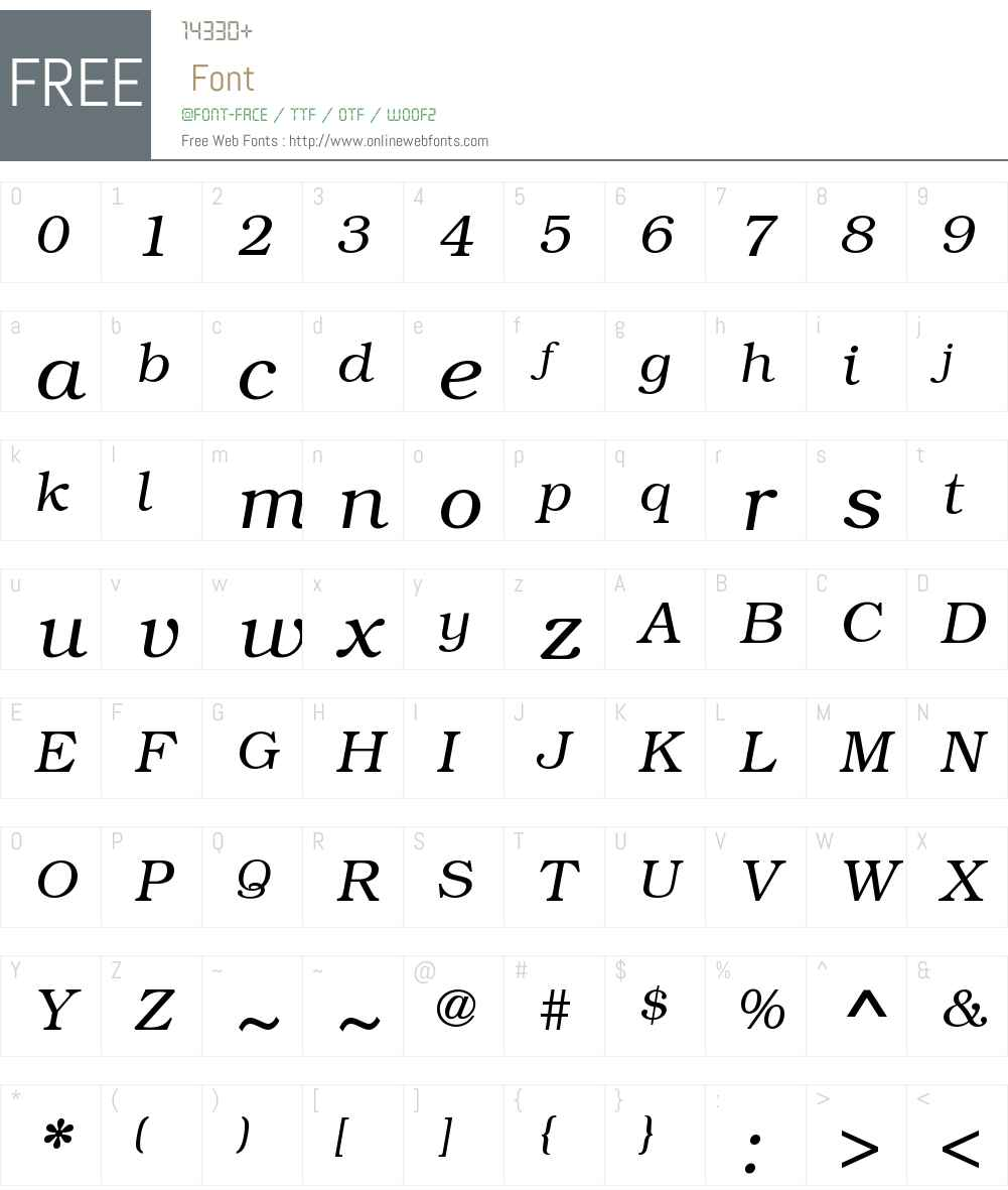 BookmanLightITCW08-Italic Font Screenshots