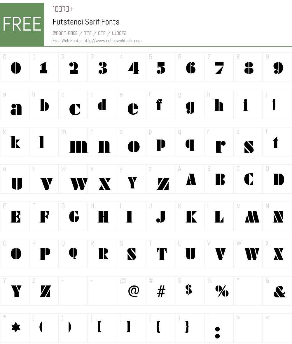 FutstencilSerif Font Screenshots