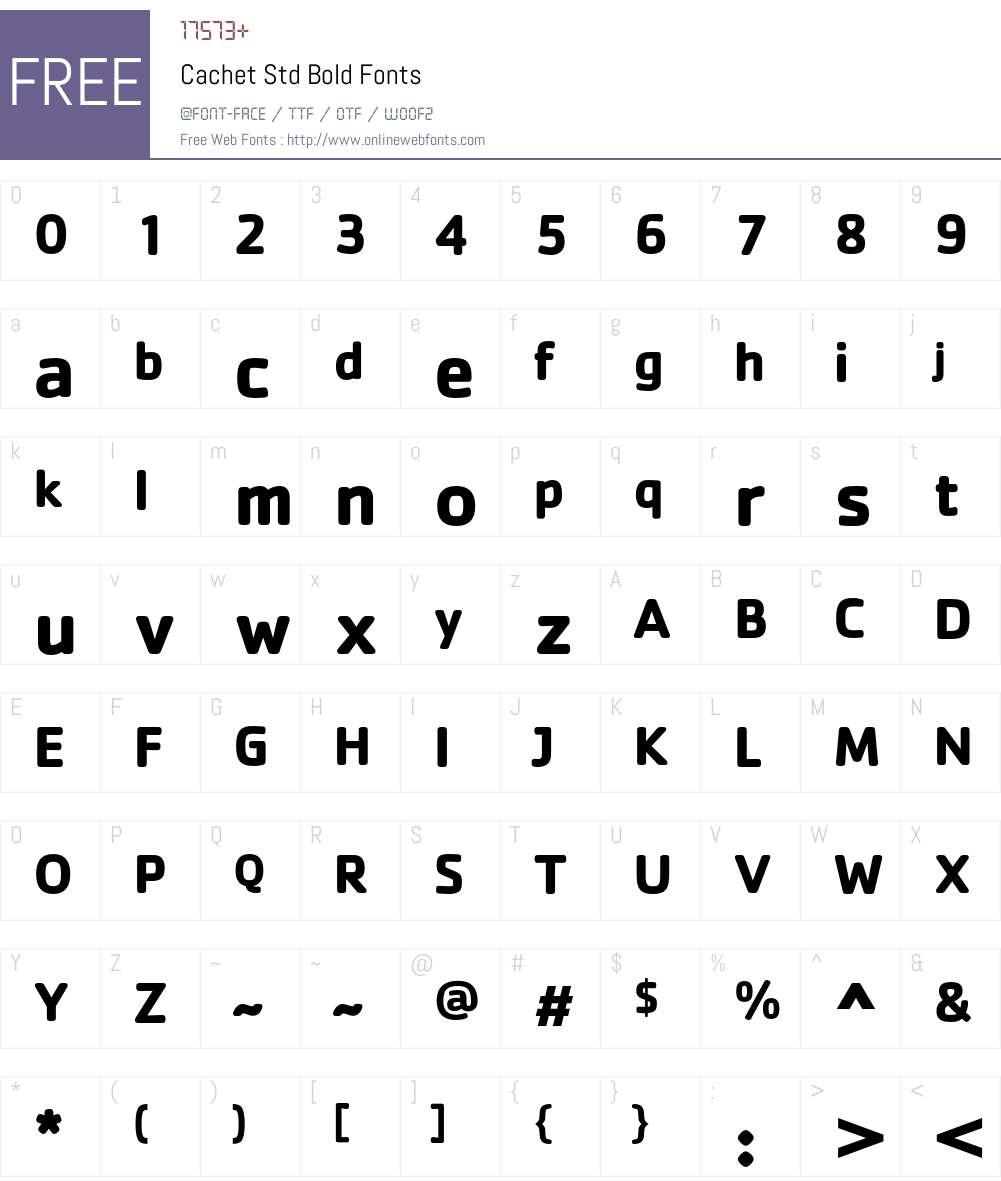 Cachet Std Font Screenshots