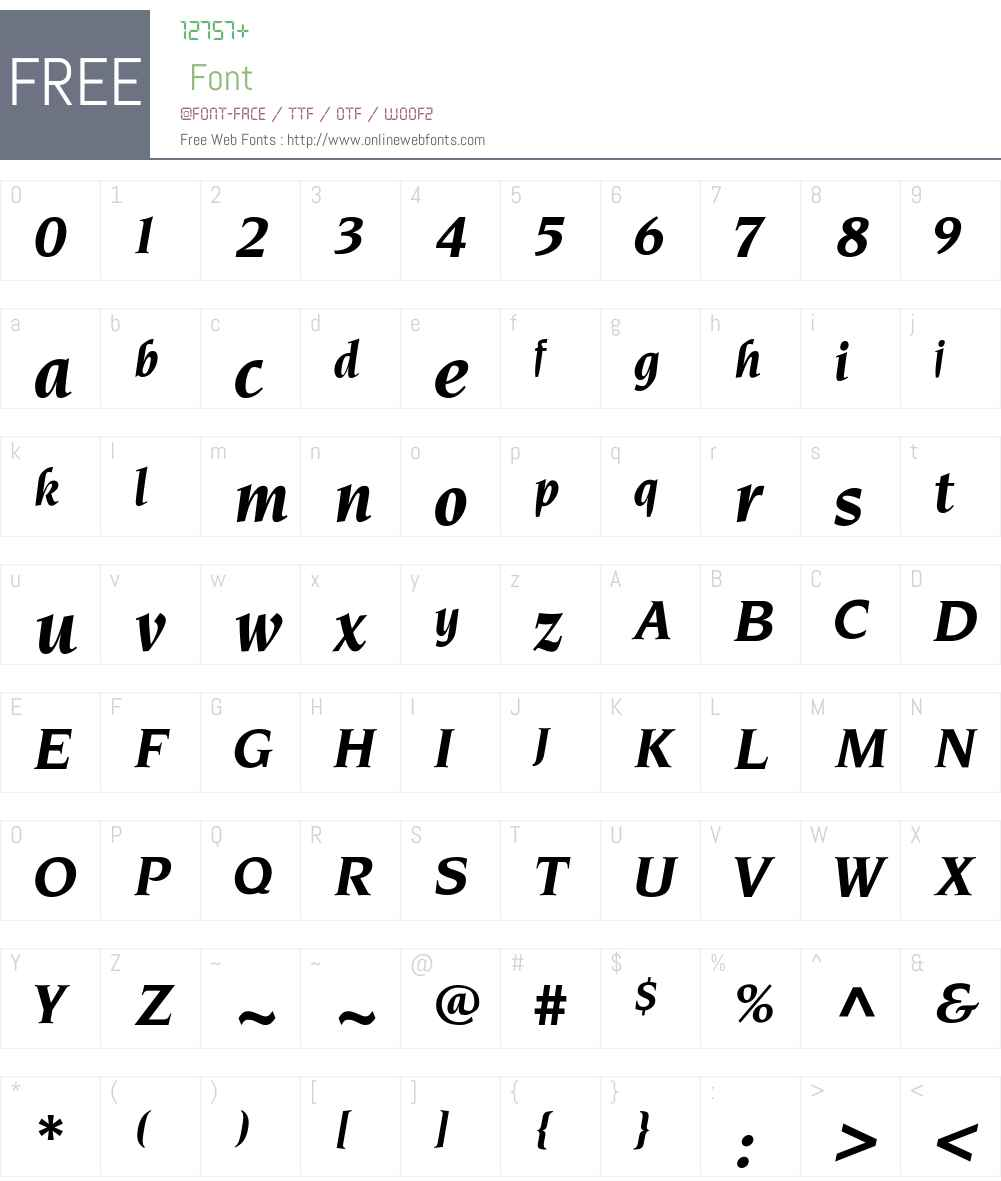 Neuvarese-BoldItalic Font Screenshots