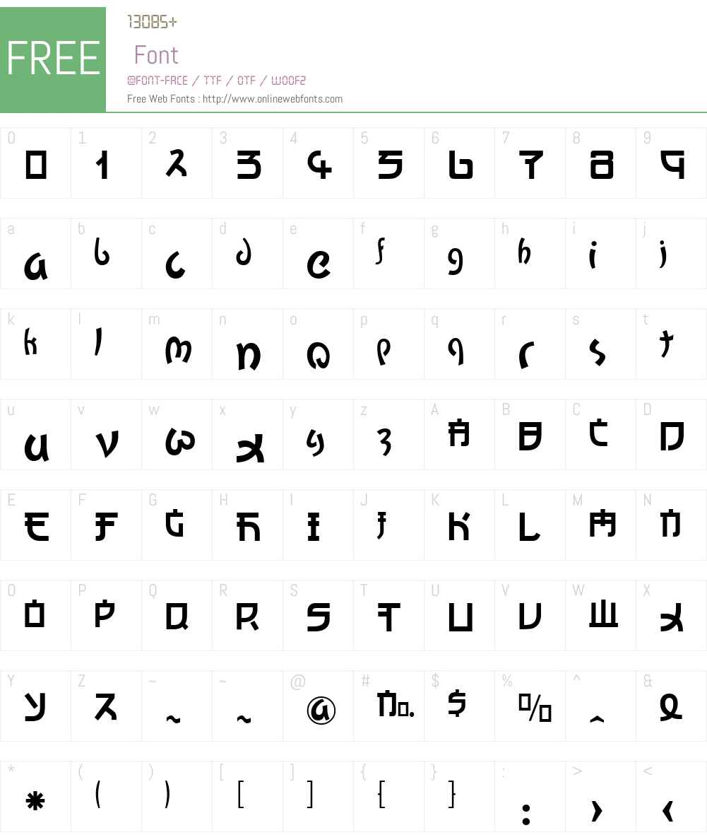 Kato Font Screenshots