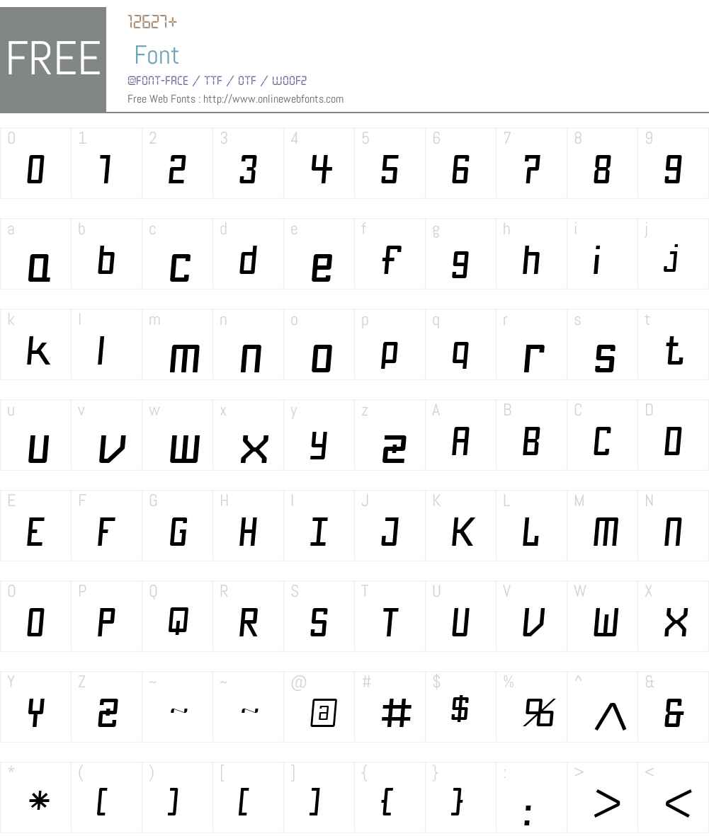 KamaroW00-ArtZanaYtalik Font Screenshots