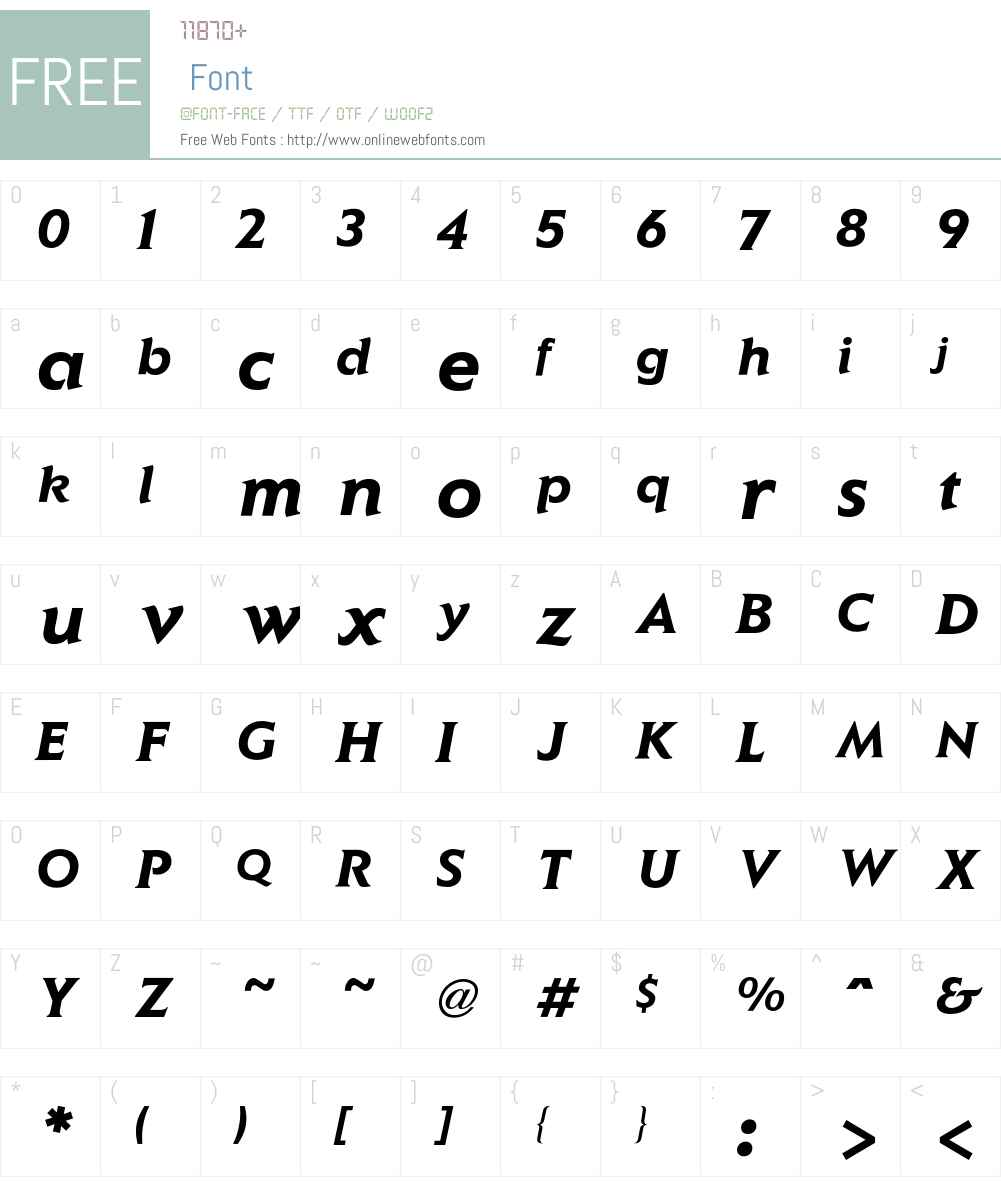 Elan Font Screenshots