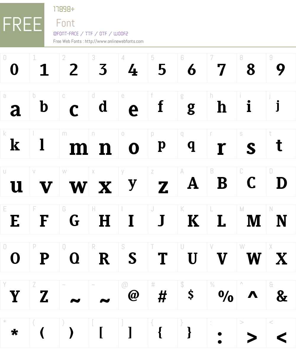 Generis Slab Font Screenshots