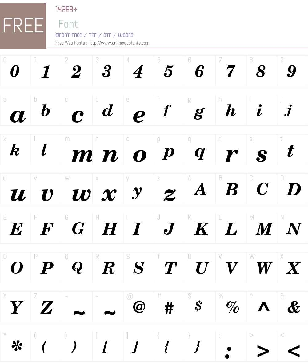 LinotypeMaralW84-BoldItalic Font Screenshots