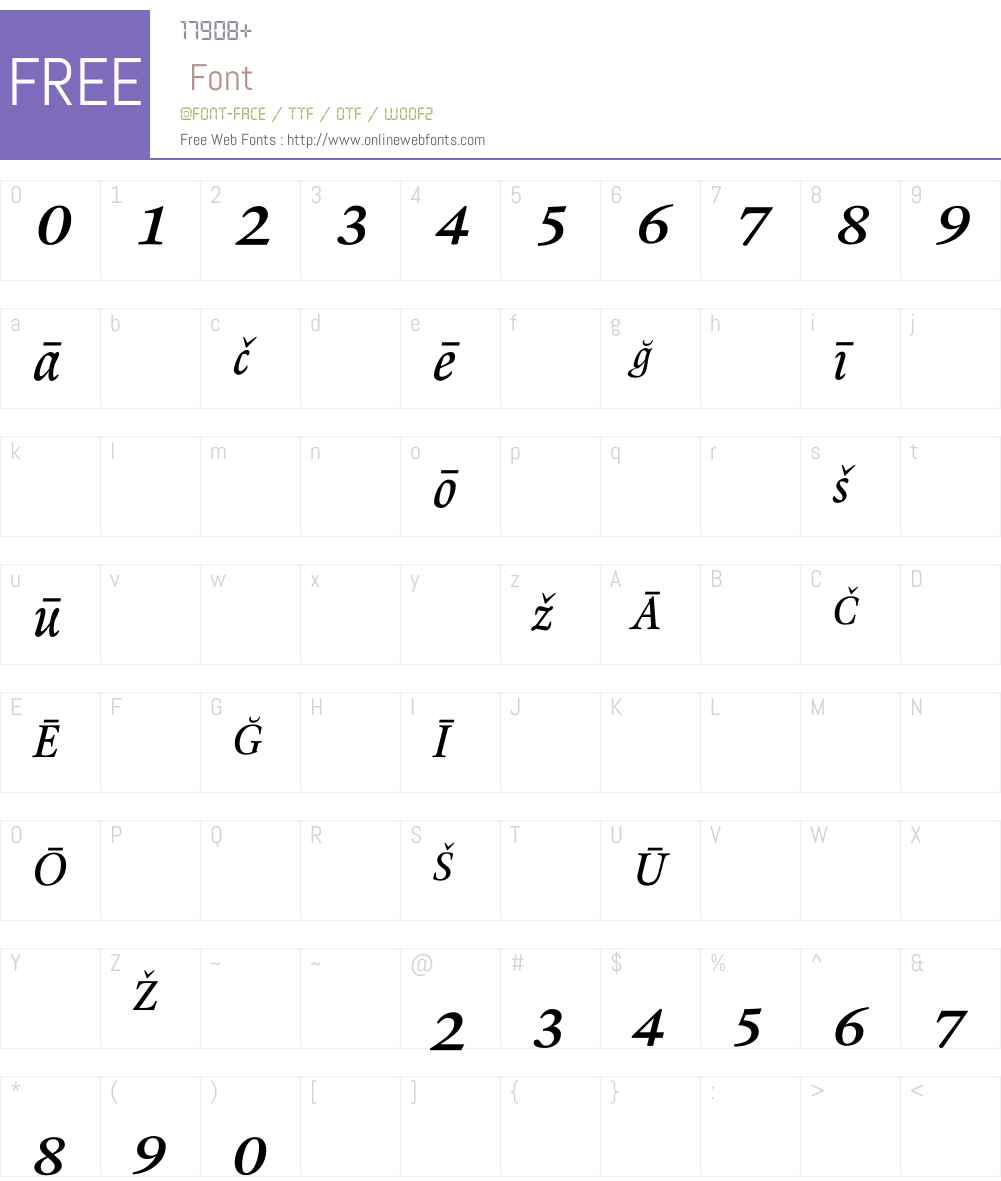 RenardNo1 Font Screenshots