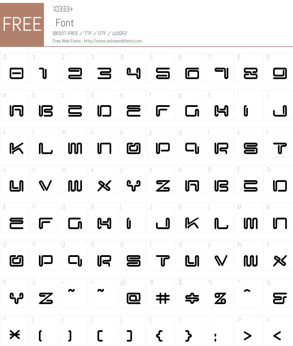 CyberMonkey Font Screenshots