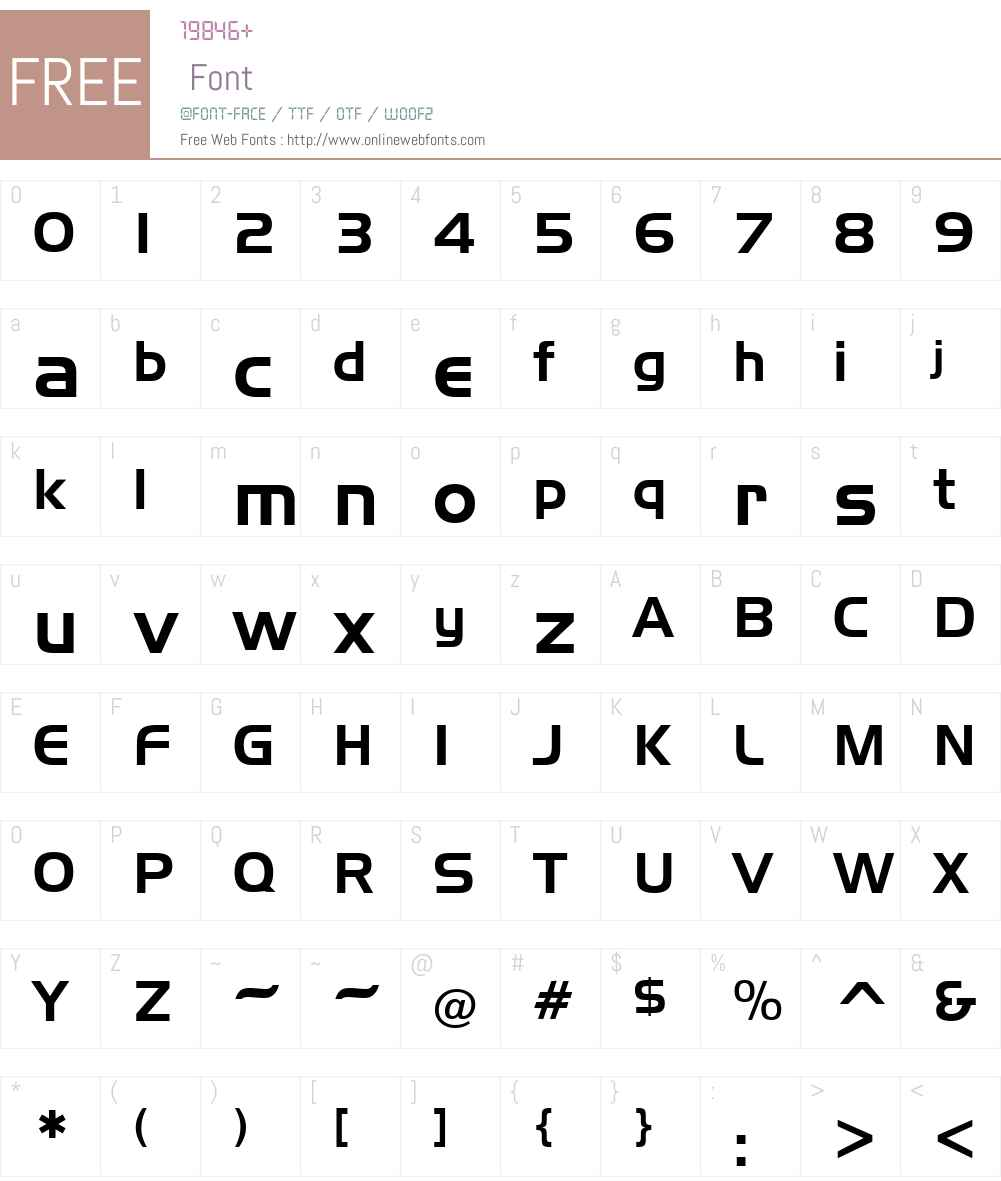 Slicker Font Screenshots