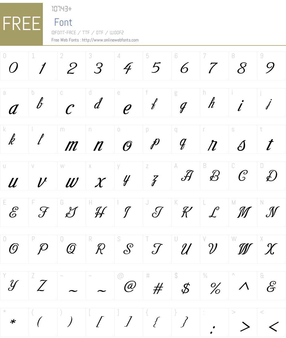 VictoryScriptW00-VictoryScript Font Screenshots
