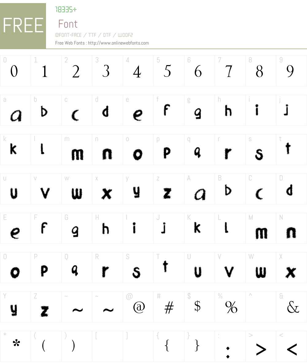 blabb Font Screenshots