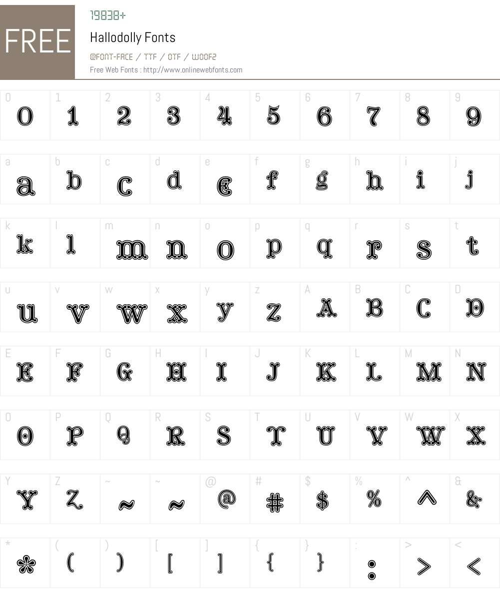 Hallodolly Font Screenshots