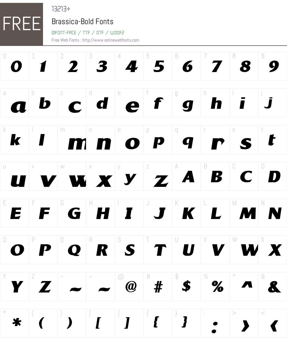 Brassica Font Screenshots