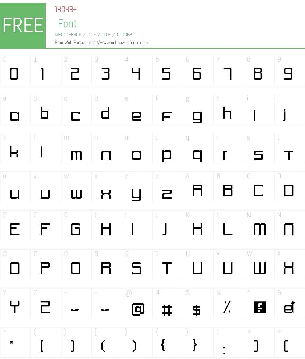 UNIK2 Font Screenshots