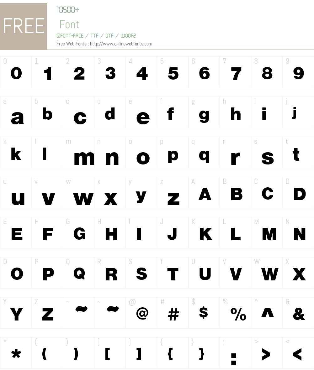 NimbusSanDBla Font Screenshots