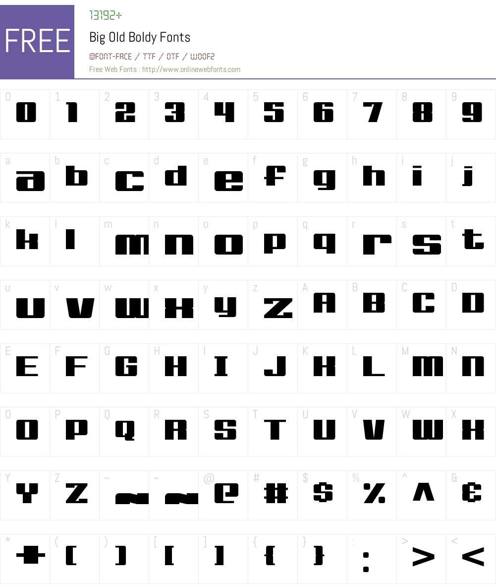 Big Old Boldy Font Screenshots