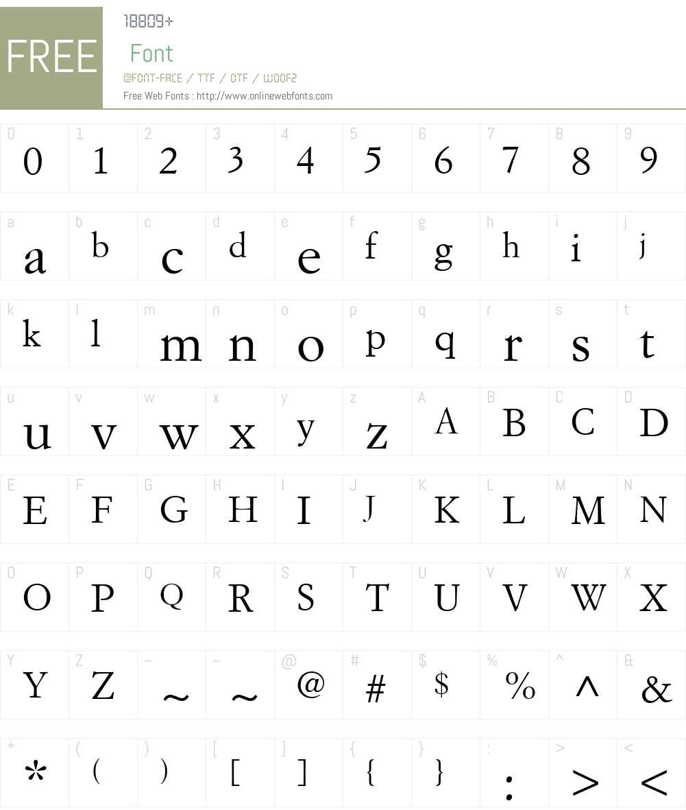 SimonciniGaramondW01-Roman Font Screenshots