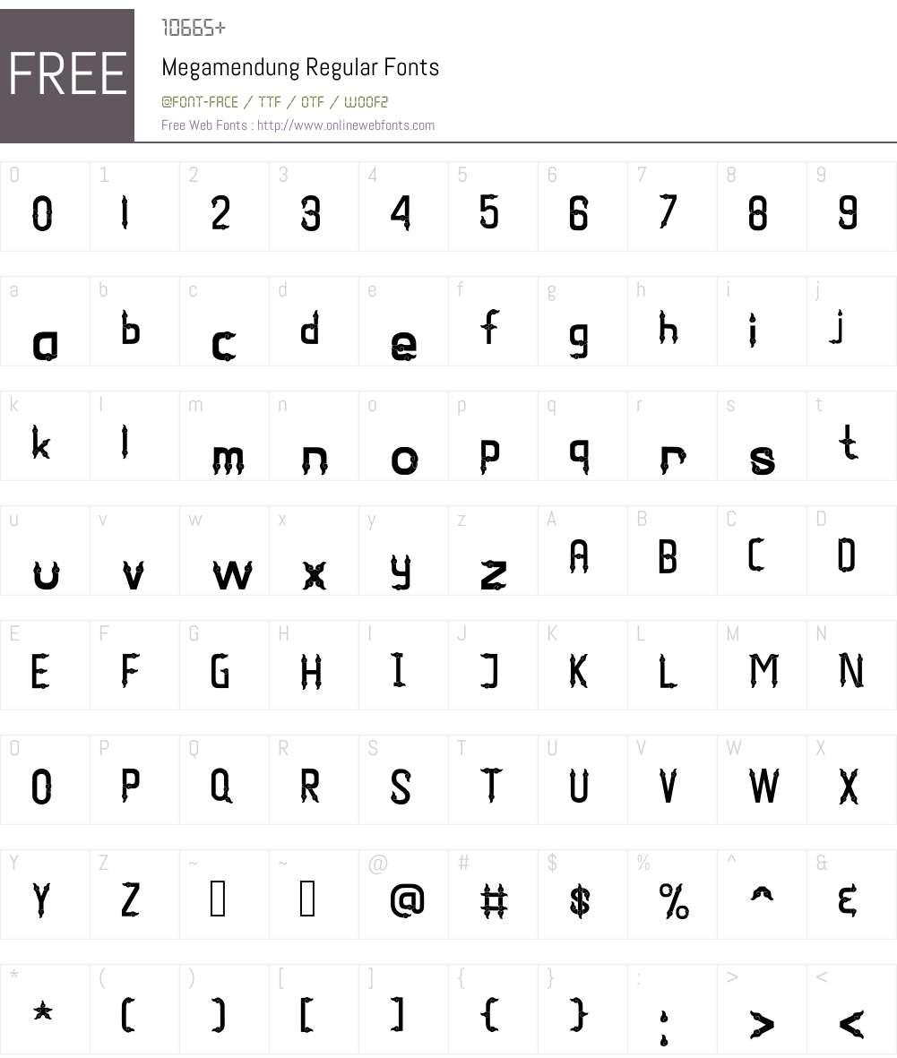 Megamendung Font Screenshots