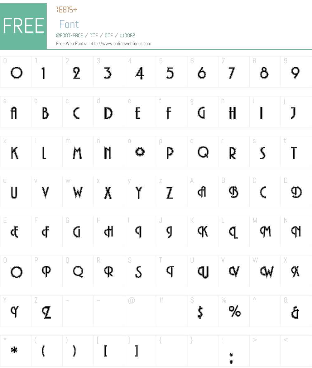 PlazaEF-Inline Font Screenshots