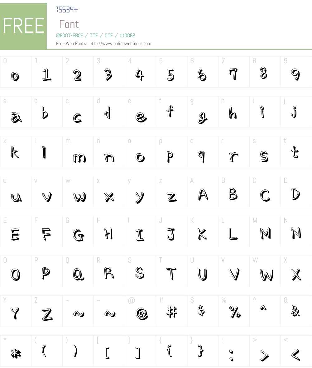 Cre ChocoCookie Font Screenshots