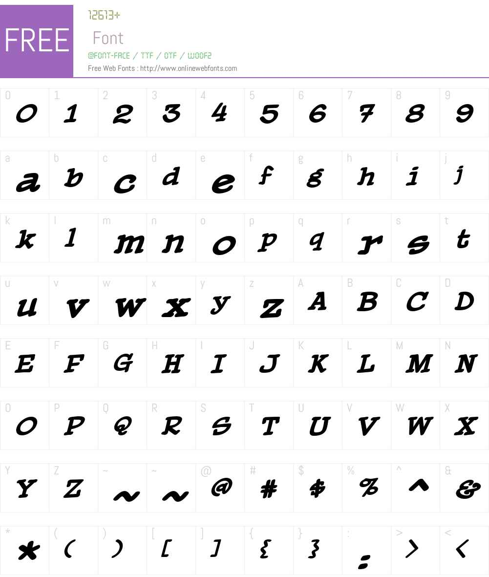 PaperBoy BB Font Screenshots