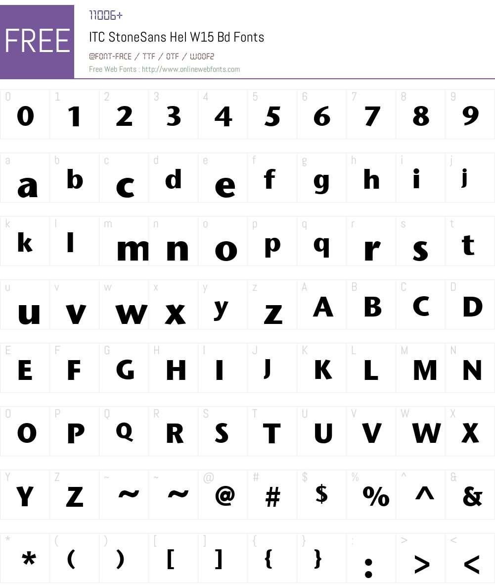 ITCStoneSansHelW15-Bd Font Screenshots