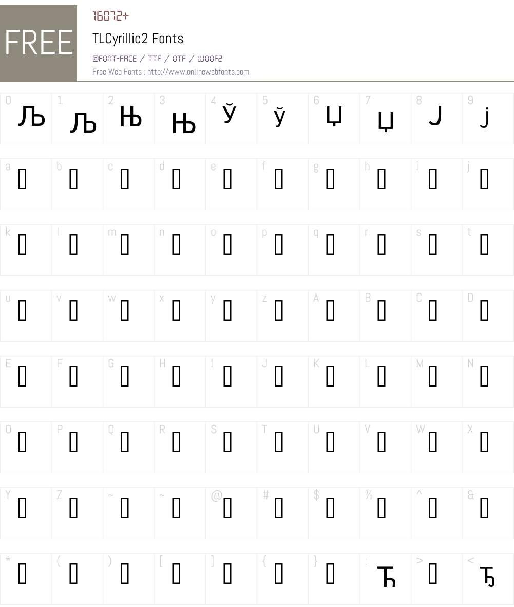 TLCyrillic2 Font Screenshots