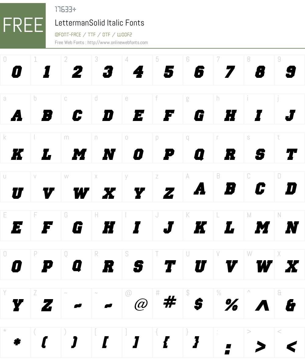 LettermanSolid Font Screenshots