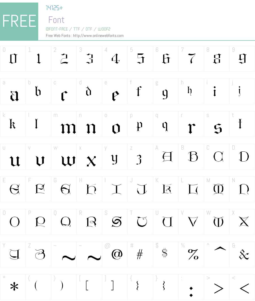 GothicI Font Screenshots