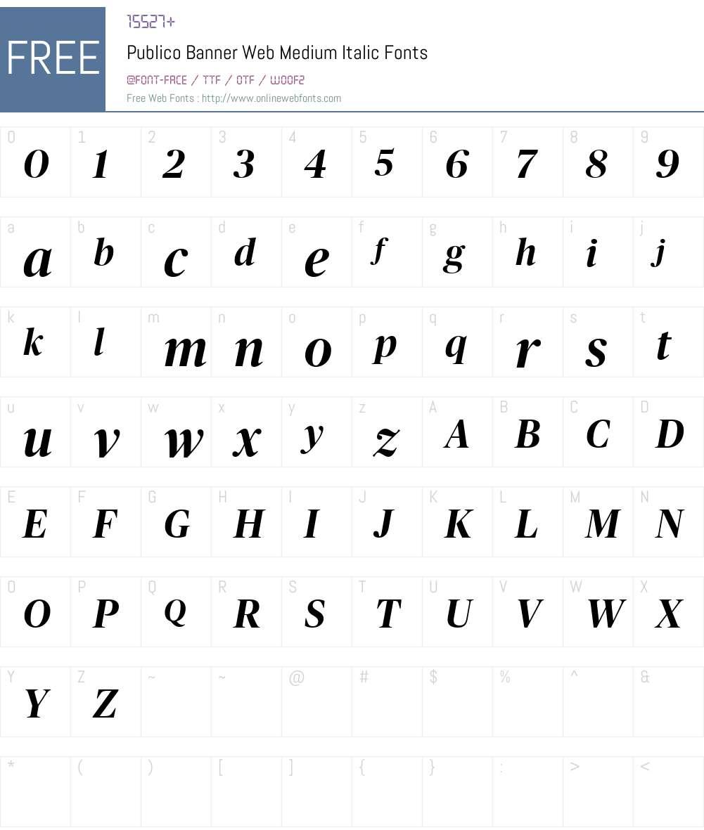 Publico Banner Web Medium Font Screenshots