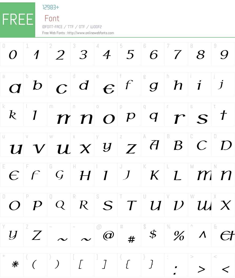 P22HoyW01-BoldItalic Font Screenshots