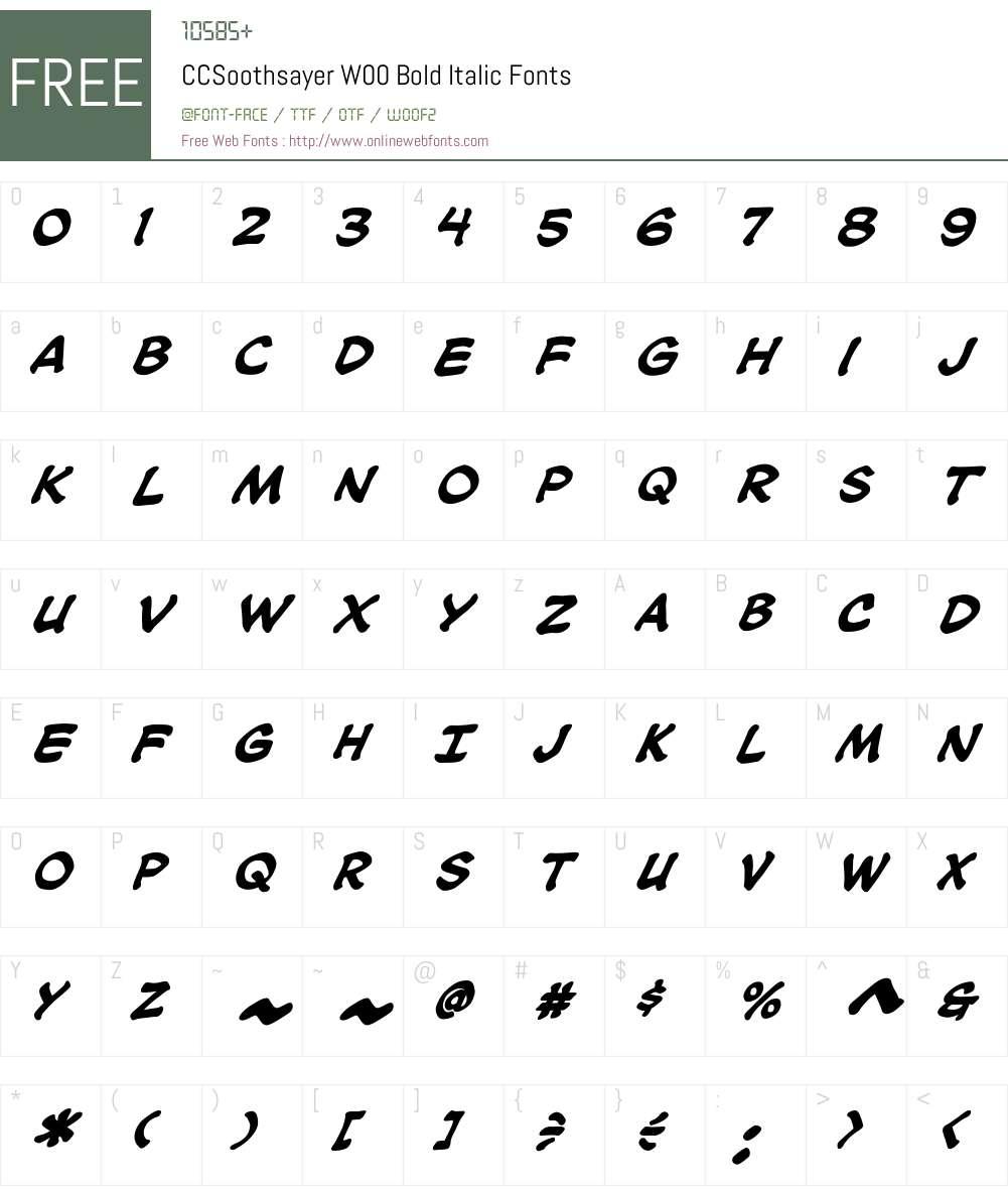 CCSoothsayerW00-BoldItalic Font Screenshots