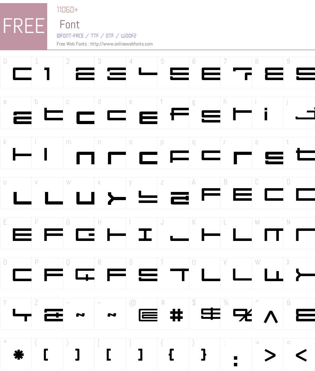 KamaroW00-ArtReg Font Screenshots